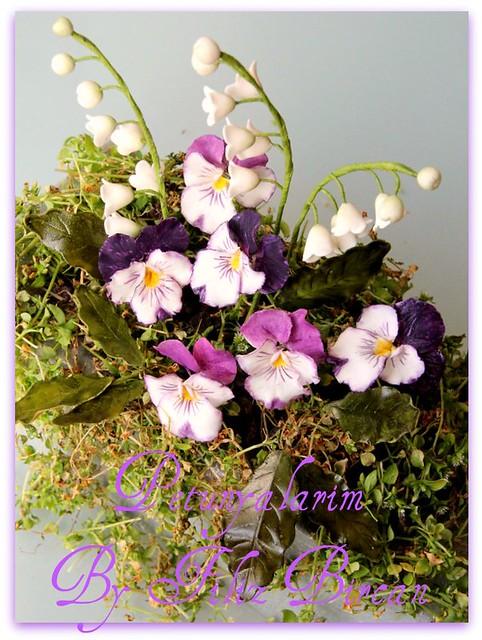 Veilchen Aus Blütenpaste