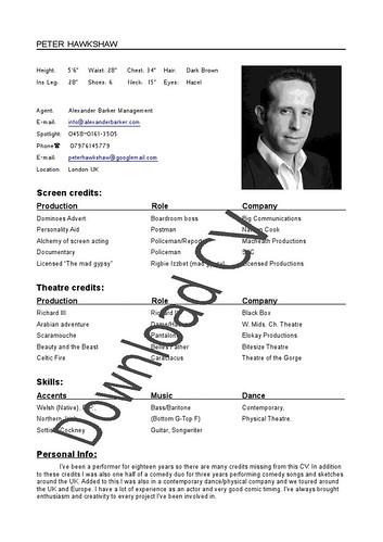 CV pdf download
