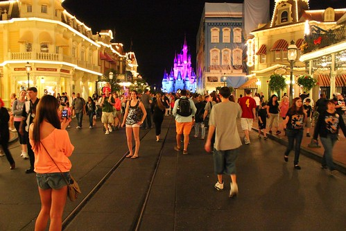Around midnight on Main Street - One More Disney Day