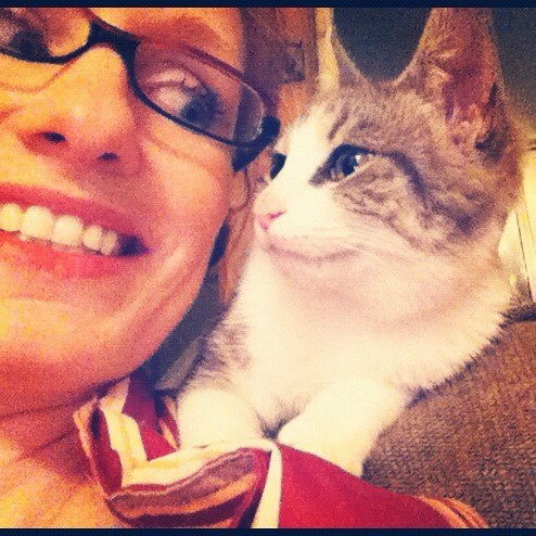 #MarchPhotoADay SMILE {Kitten On My Shoulder Makes Me Happy}