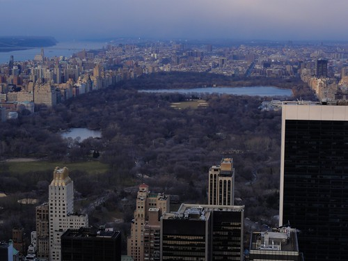 View of Central Park from Top of the Rock Rockefeller Center New York