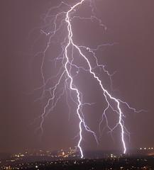 Very rich lightning a few minutes ago in Johannesburg