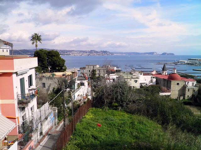 View of the Bay of Naples from the Roman seaside resort at Baiae