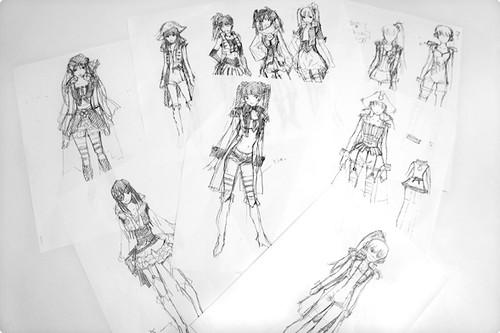 120312(2) - 漫畫家「貞本義行」親筆設計《モーレツ♡宇宙海賊》主題曲歌手「ももいろクローバーZ」的海盜服裝!