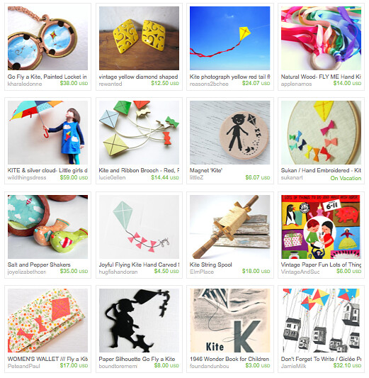 Go Fly a Kite Etsy Treasury by Maker Mama