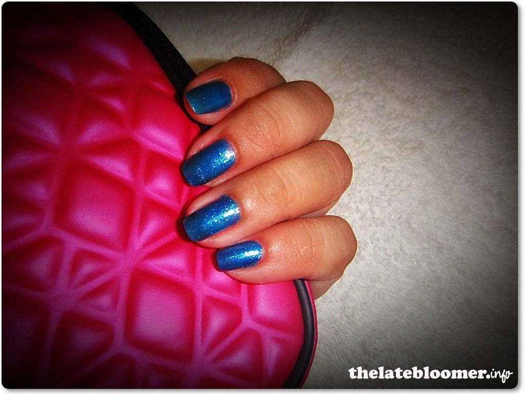 Metallic Blue Nail Polish