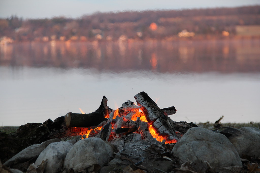 Fire at the lake
