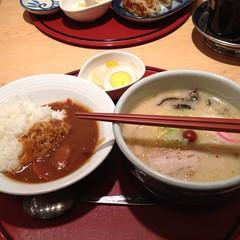 Curry Rice And Shio Ramen Set @ Hokkaido Ramen Santouka