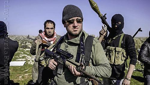 Free Syrian Army rebels in Idlib north of Syria
