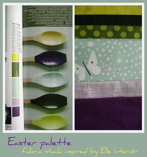Easter fabric stack