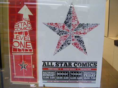 All Star Comics,  An indie boutique in Melbourne, Australia