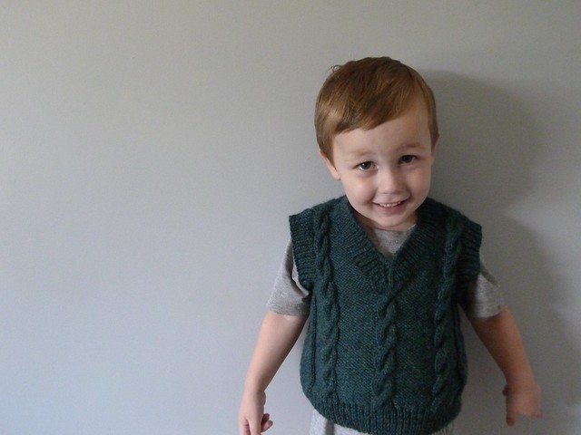 Finished cabled vest 2