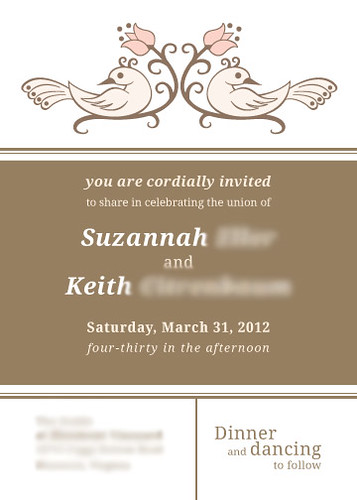Our Wedding Invitations by Suzannah Ashley on Flickr