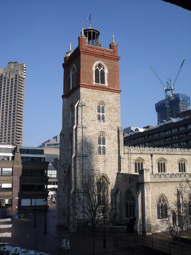 St Giles' Cripplegate bell tower