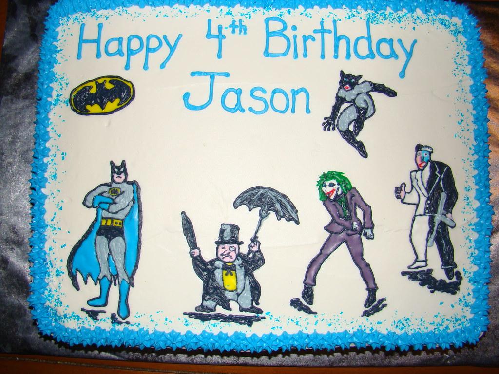 Joker Penguin Catwoman 2Face Birthday Cake