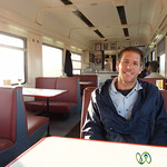 Dan in the Dining Car of Turkish Train
