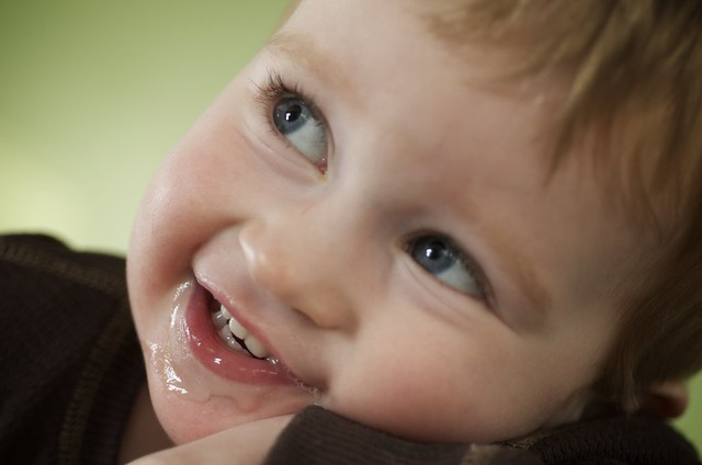 Jackson drooling smile