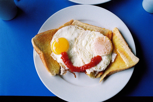 Smily eggs on toast