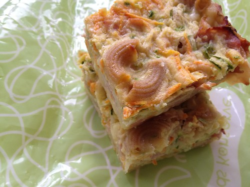 Zucchini and Pasta Slice - Lunch Box Ideas