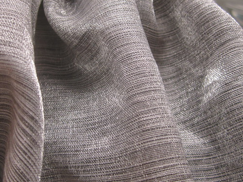 Gray Fabric with Horizontal Patterns