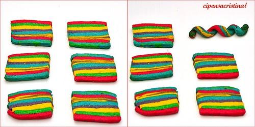 Collage di biscotti carnevale
