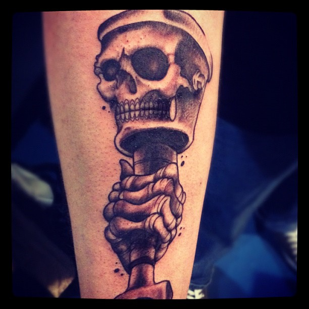 Did this today at the tattoo expo tattooexpo tattoo for Skull piston tattoo