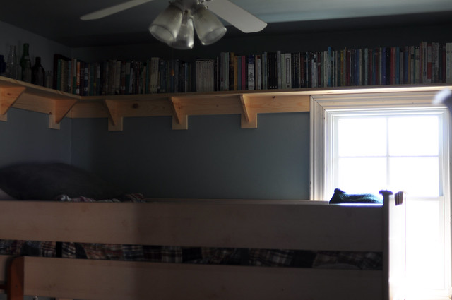 new shelves in Seth and Gabe's room