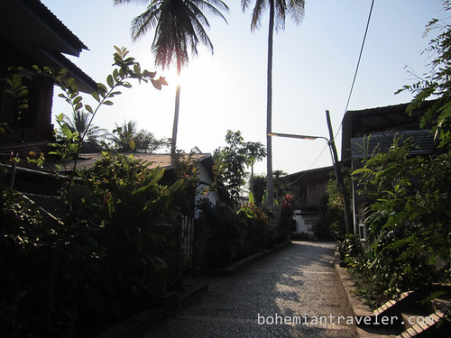 back street in Luang Prabang