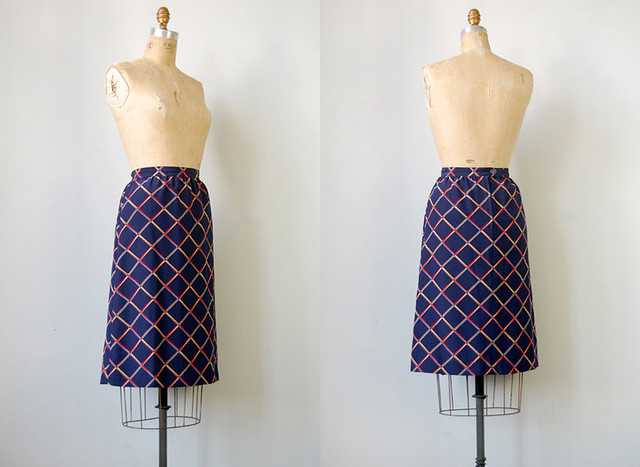 vintage 1970s diamond skirt