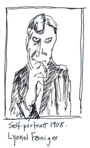 Autoportrait Lyonel Feiniger