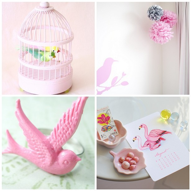 Pretty pink birds