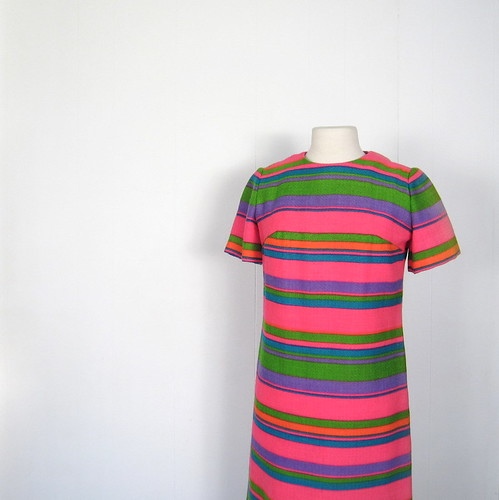1960s L'Aiglon candy stripe dress