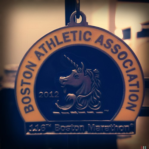 Tara's race medal