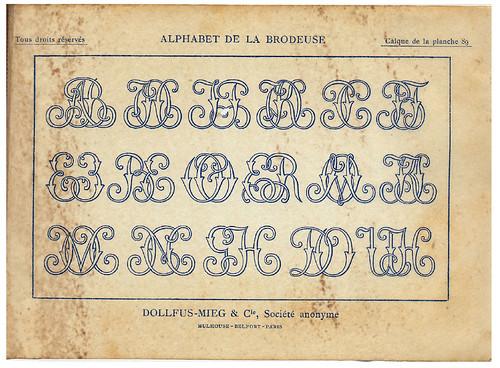 019-Calco de una de las laminas-Alphabet de la Brodeuse1932- Thérèse de Dillmont