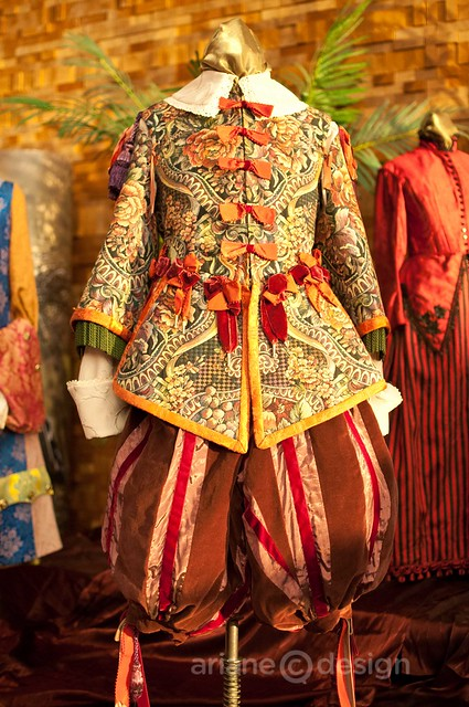Men's brocade suit circa 1630's, worn by Frank Zotter as Cleante