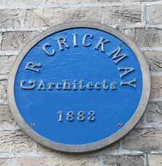 Photo of G R Crickmay blue plaque