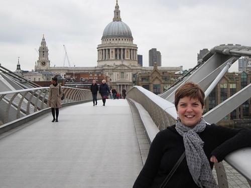 on the Millenium Bridge
