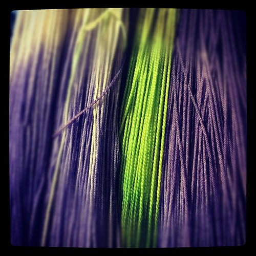 I'm having s bit of a love affair w purple and green #knit #yarn #handdyed #color