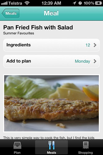 Menu Planner App - Added to day