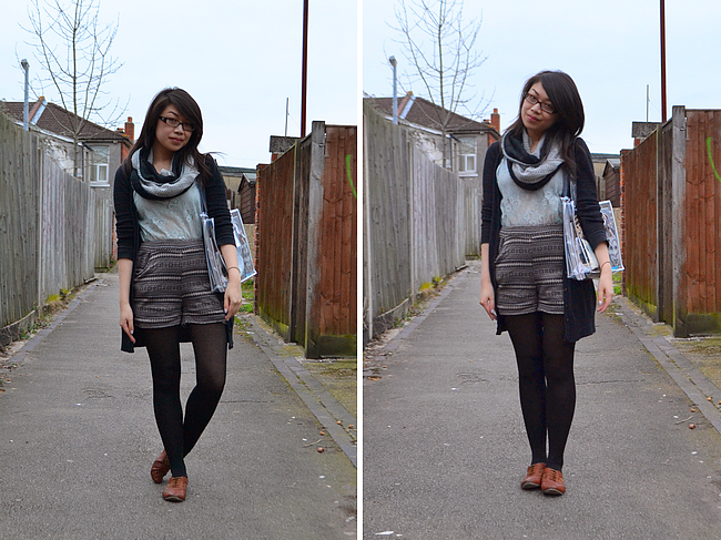 daisybutter - UK Style Blog: what i wore, fairisle print, lace top, mint green, clippy london