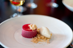 Blackcurrant Crumble, Vanilla Ice Cream