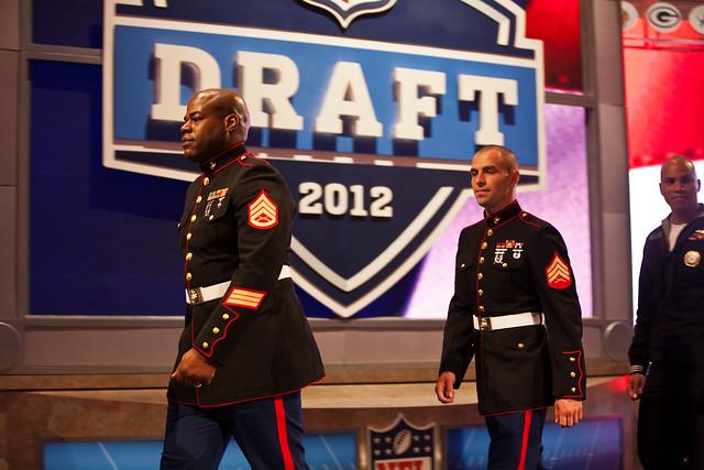 Marines at NFL Draft 2012