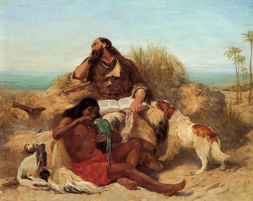 """John Charles Dollman (1851 -1934), """"Robinson Crusoe and His Man Friday"""""""