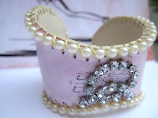 Custom Shabby Pink B-Cuff: Holly! 4