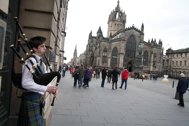 Frå The Roayl Mile i sentrum av Edinburgh. Foto: Svein Olav Langåker