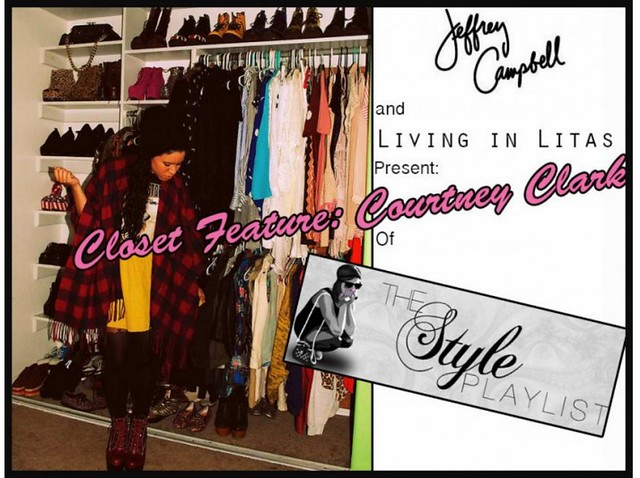 jeffrey campbell blog feature:http://www.jeffreycampbellshoes.com/2012/04/living-in-litas-closet-feature-courtney-clark/