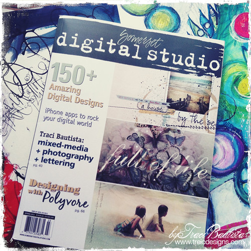 My digital art journaling article is featured in Somerset Digital Studio Magazine!