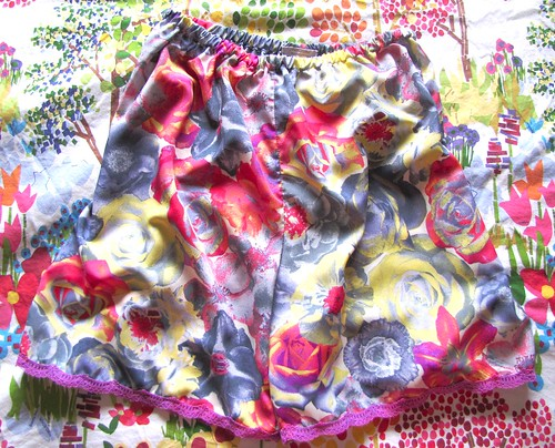 acid floral pettipants on bed