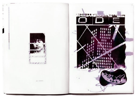 Double page spread, The Ian Dury Songbook, 1979. Design Barney Bubbles.