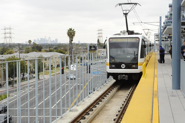 ... plaza and parking for the Expo Line. Photo by Steve Hymon/Metro
